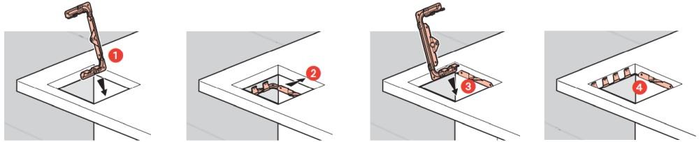Montáž kovového spodního rámečku Legrand POPUP