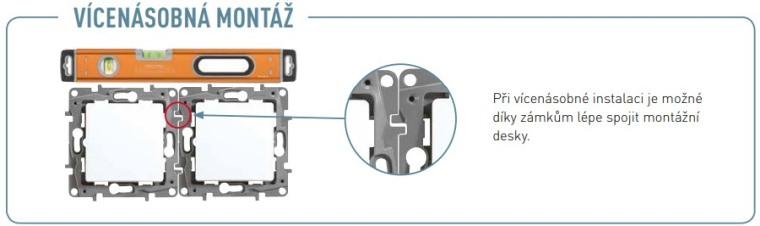 Možnost spojení vypínačů Legrand Niloé pro použití vícenásobných rámečků