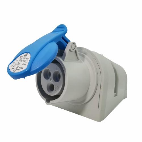 Průmyslová nástěnná zásuvka IZN 1632 230V, IP44, 16A, 3-pól (SEZ IZN 1632)