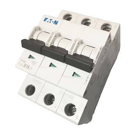 Třífázový jistič Eaton 286589 PL6-B16/3 na DIN lištu (Eaton 16B/3 PL6 286589)